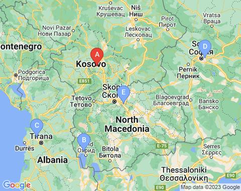 Kaart Kosovo