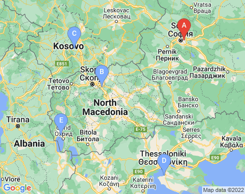 Kaart Sofia
