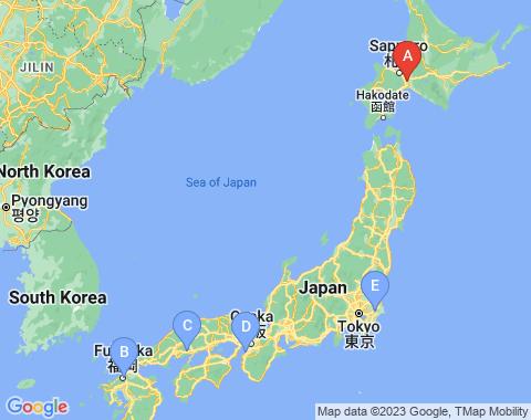 Kaart Sapporo
