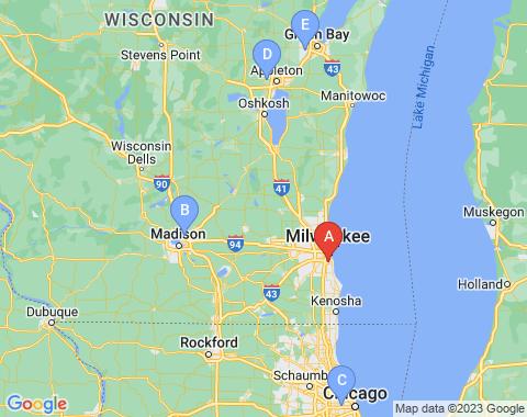 Kaart Milwaukee