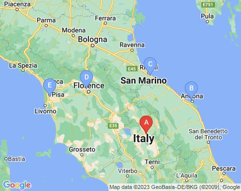 Kaart Perugia