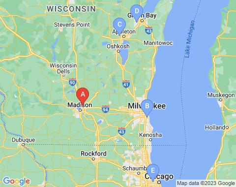 Kaart Madison