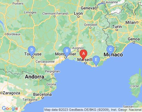Kaart Marseille