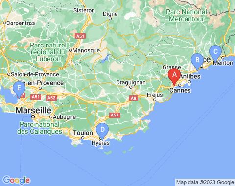 Kaart Cannes