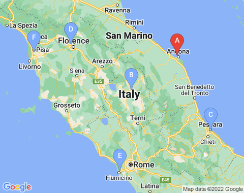 Kaart Ancona