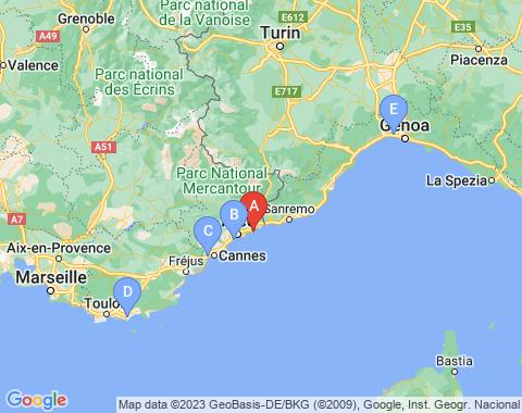 Kaart Monaco