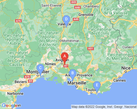 Kaart Avignon