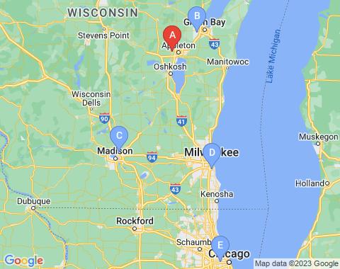 Kaart Appleton