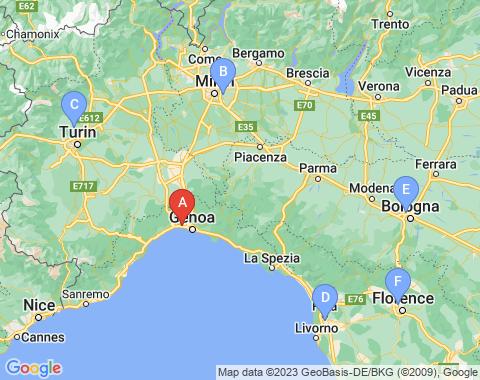 Kaart Genua