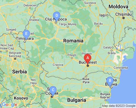 Kaart Boekarest