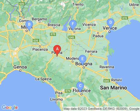 Kaart Parma