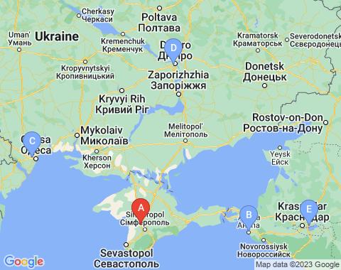 Kaart Simferopol
