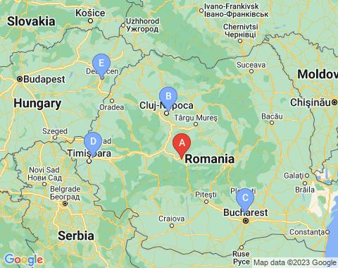Kaart Sibiu