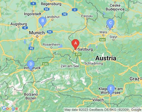 Kaart Salzburg