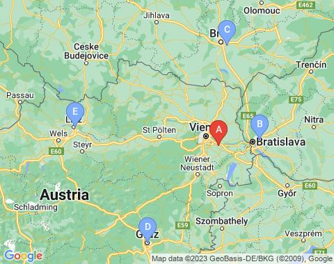 Kaart Wenen