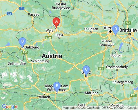 Kaart Linz