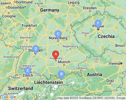 Kaart Munchen