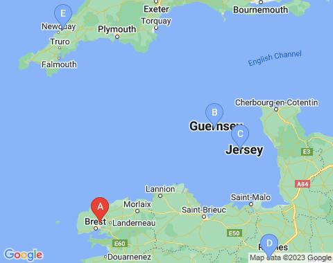 Kaart Brest