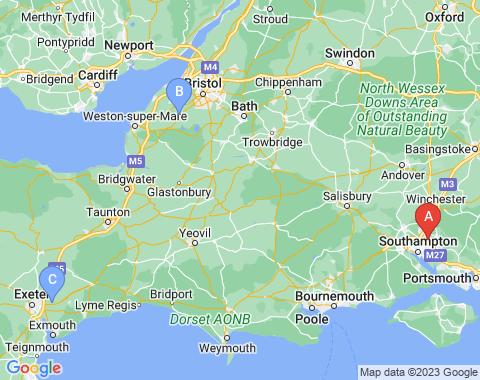 Kaart Southampton