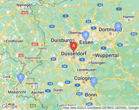 Kaart Dusseldorf