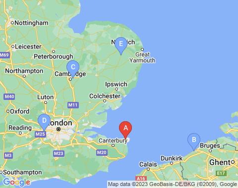 Kaart Canterbury