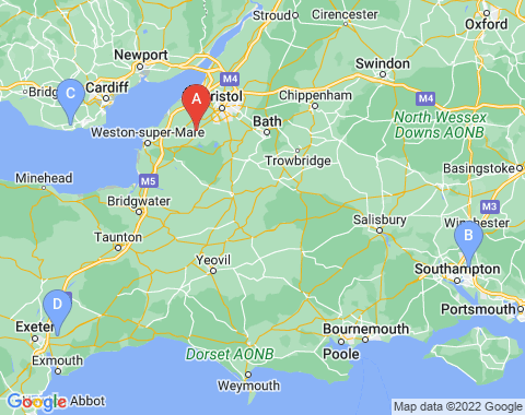 Kaart Bristol