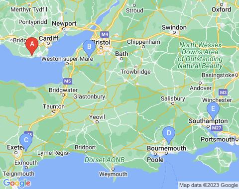 Kaart Cardiff