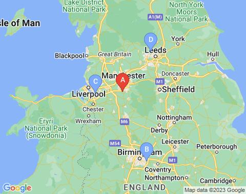 Kaart Manchester