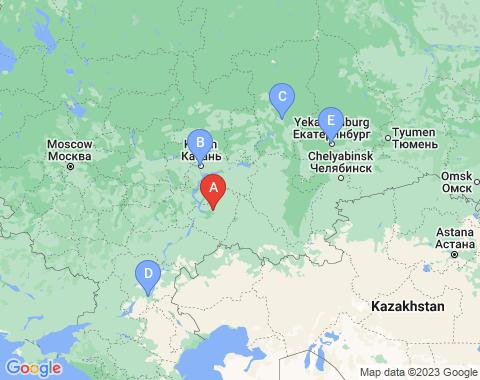 Kaart Samara