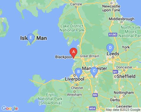 Kaart Blackpool