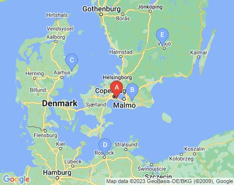 Kaart Kopenhagen