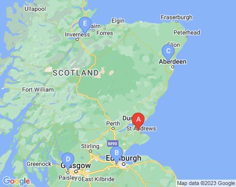 Kaart Dundee