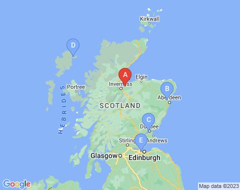 Kaart Inverness