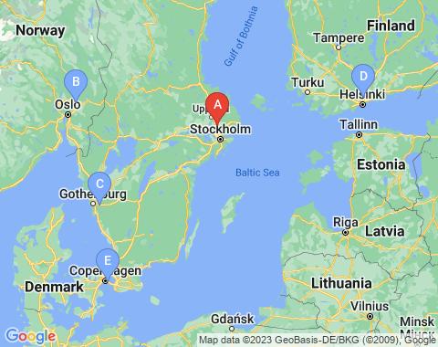 Kaart Stockholm