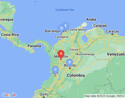 Kaart Medellin