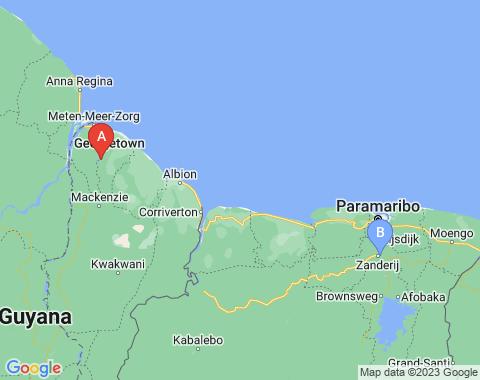 Kaart Georgetown Guyana