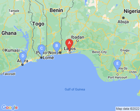 Kaart Lagos