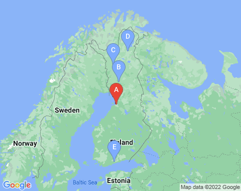 Kaart Oulu