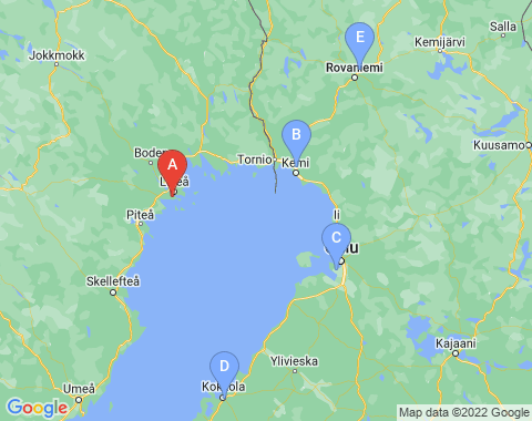 Kaart Lulea