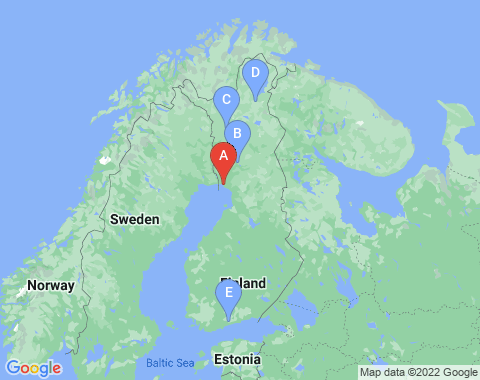 Kaart Kemi Tornio