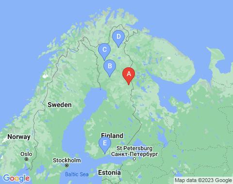 Kaart Kuusamo