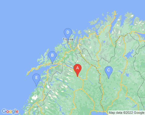 Kaart Kiruna