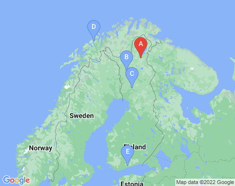 Kaart Ivalo