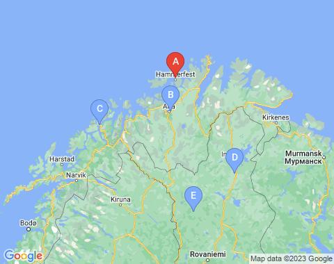 Kaart Hammerfest