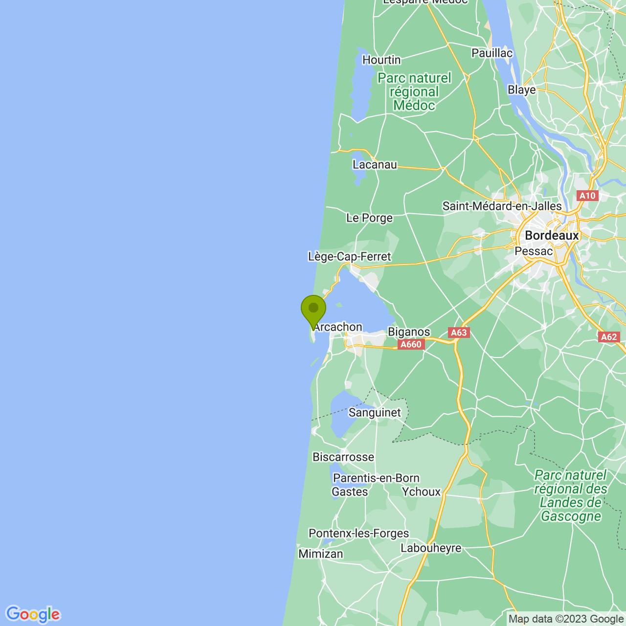 Locatie Le Phare du Cap Ferret