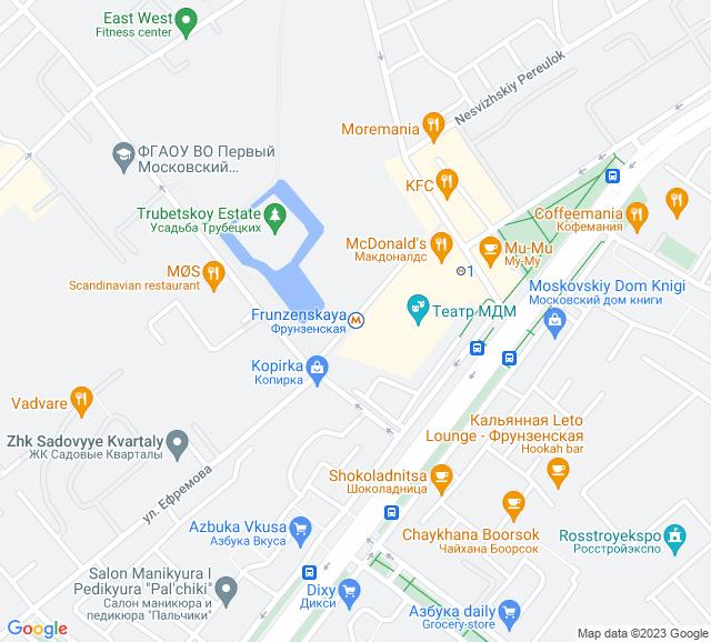 Вывоз мусора метро Фрунзенская
