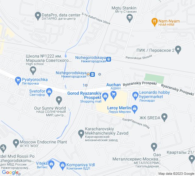 Вывоз мусора МЦК Нижегородская