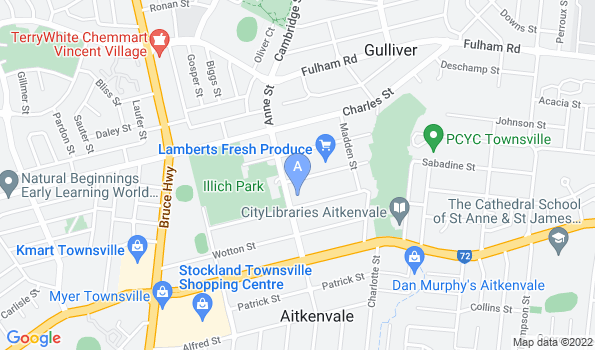 Street map of Townsville Veterinary Clinic