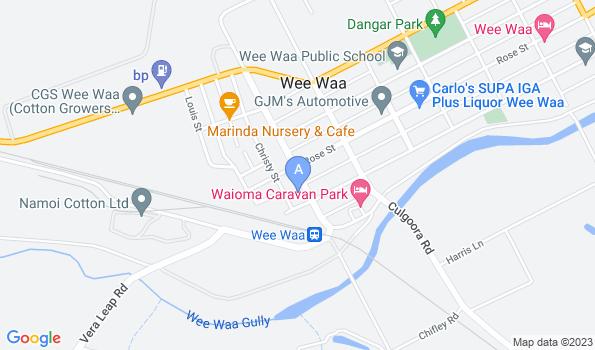 Street map of Wee Waa Veterinary Clinic