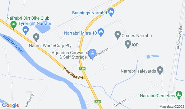 Street map of Narrabri Veterinary Clinic
